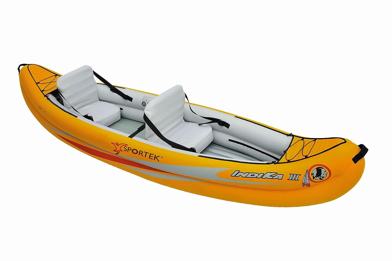 Sportek Indika III - Canoa hinchable (unisex), color naranja ...