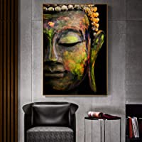 DADABOX Pintura Impresa Buda Lienzo Pintura Mural para Sala De Estar Budismo Clásico Pared Lienzo Decorativo Lienzo Cuadros De Arte Decoración Cuadros