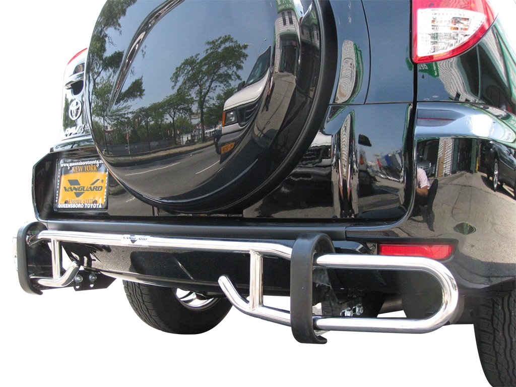 Vanguard VGRBG-0710SS Compatible with Toyota RAV 4 2006-2018 Rear Bumper Guard Stainless Steel Double Tube Style