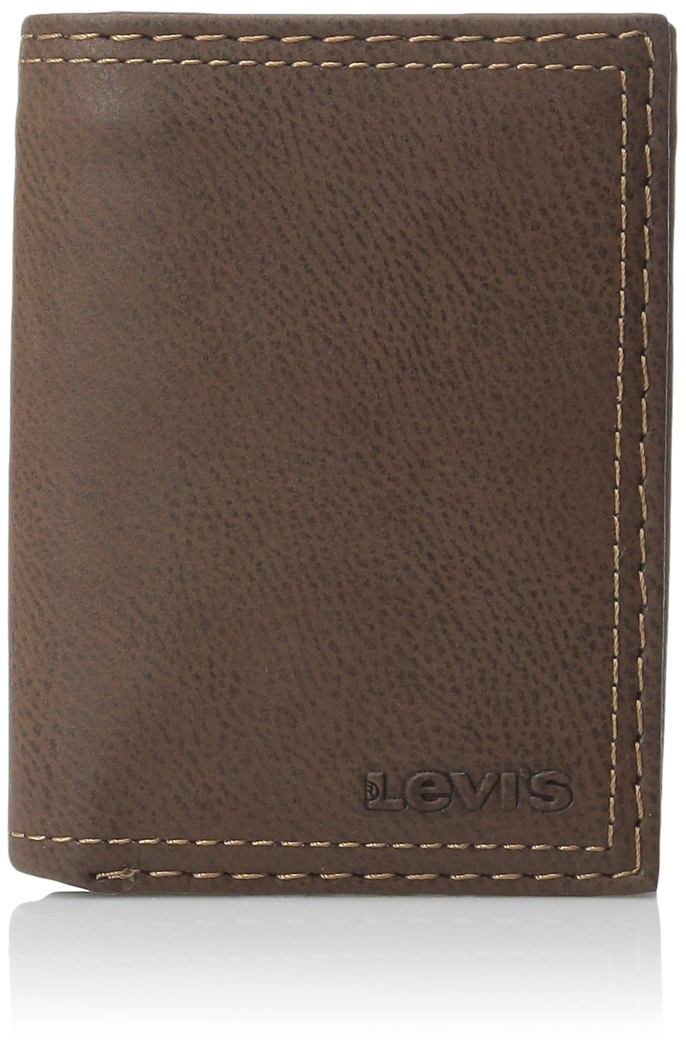 Levi's Men's Trifold Wallet – Sleek and Slim Includes ID Window and Credit Card Holder