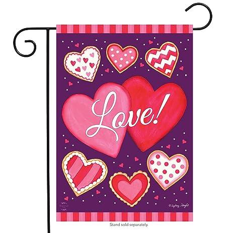Amazon.com : Sweet Valentine Garden Flag Valentine\'s Day Hearts ...