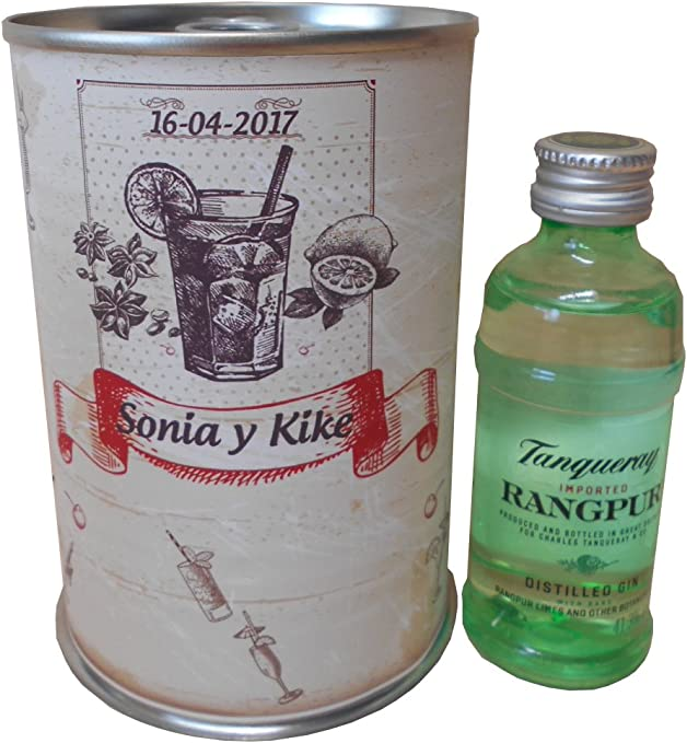 Botellin miniatura Ginebra Tanqueray Rangpur en lata personalizada ...