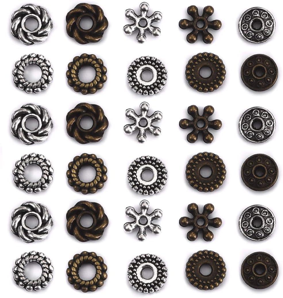 50 Tibetan Alloy Tube Metal Beads Bumpy Grooved Bronze Nickel Free Spacer 11x6mm