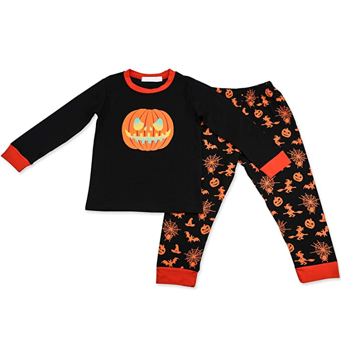 baby boy halloween pajamas pumpkin top long pants infant toddler outfit 2t
