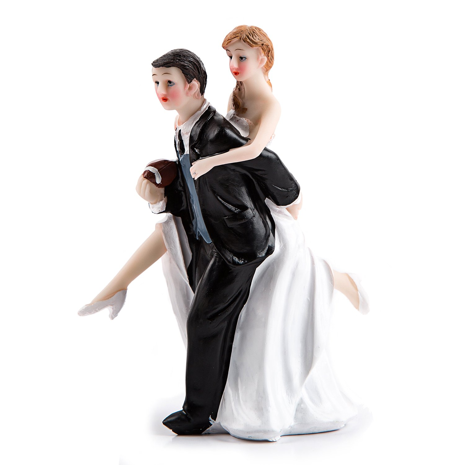 Click to buy PWedding Reception Decoration Ideas: Playful Football Wedding Couple Cake Topper from Amazon!