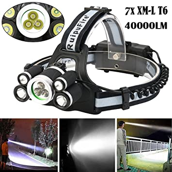 Portable Lighting New High Quality 40000 Lm 7x Xml T6 Led Rechargeable Headlamp Headlight Travel Head Torch Drop Shipping