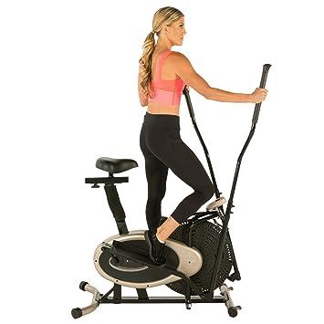 Exerpeutic Paradigm Health and Wellness 7102 Oro Elíptica y Bicicleta Estática Entrenador de Dual