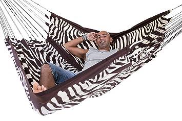 arambol hammocks flying carpet original zebra print cream white  dark chocolate buy arambol hammocks flying carpet original zebra print cream      rh   amazon in