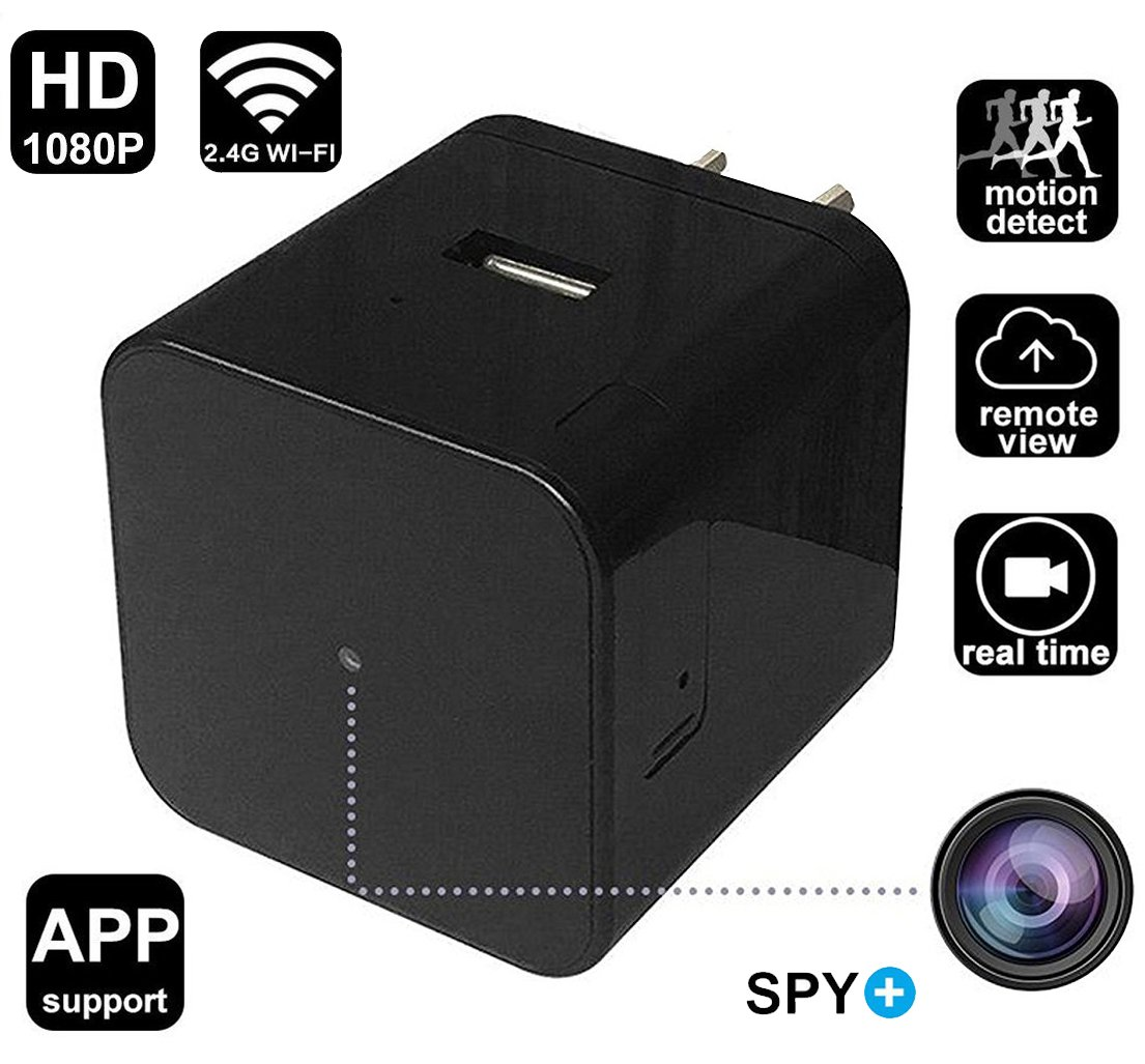 WiFi Hidden Spy Camera Wall Charger HD 1080P Security Camera with Motion Detection,Night Vision,Realtime Video Recorder, Covert Nanny Camera for Home Office Surveillance