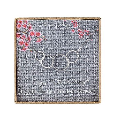 40 cumpleaños regalos para mujer - Plata de ley Infinity 4 ...