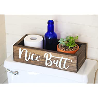 Nice Butt Bathroom Decor Box - Toilet Paper Holder - Farmhouse Rustic!