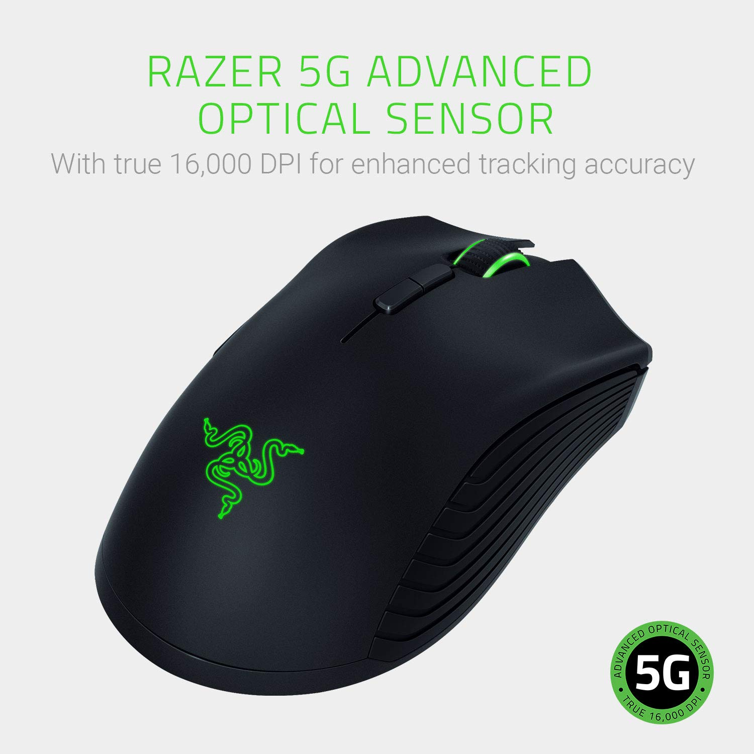 Razer Mamba Wireless Gaming Mouse: 16,000 DPI Optical Sensor - Chroma RGB Lighting - 7 Programmable Buttons - Mechanical Switches - Up to 50 Hr Battery Life by Razer (Image #3)