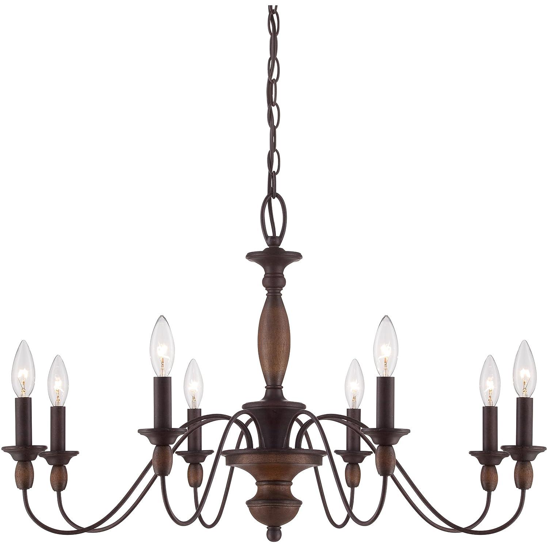 Quoizel HK5008TC Holbrook 8 Light Chandelier Tuscan Brown