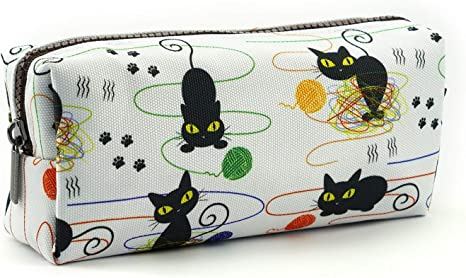 Cat and Wool Pencil Case