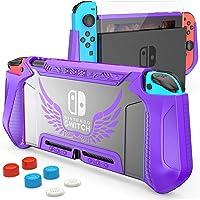 HEYSTOP Dockable Case voor Nintendo Switch, Switch Cover TPU Case, Beschermhoes voor Nintendo Switch Console en JoyCon…