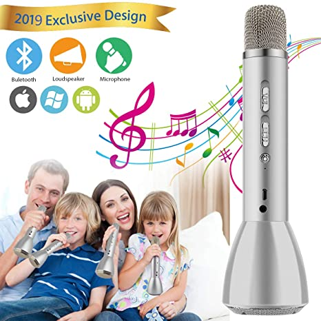 2019 New Kids Karaoke Machine Wireless Singing Microphone with Bluetooth