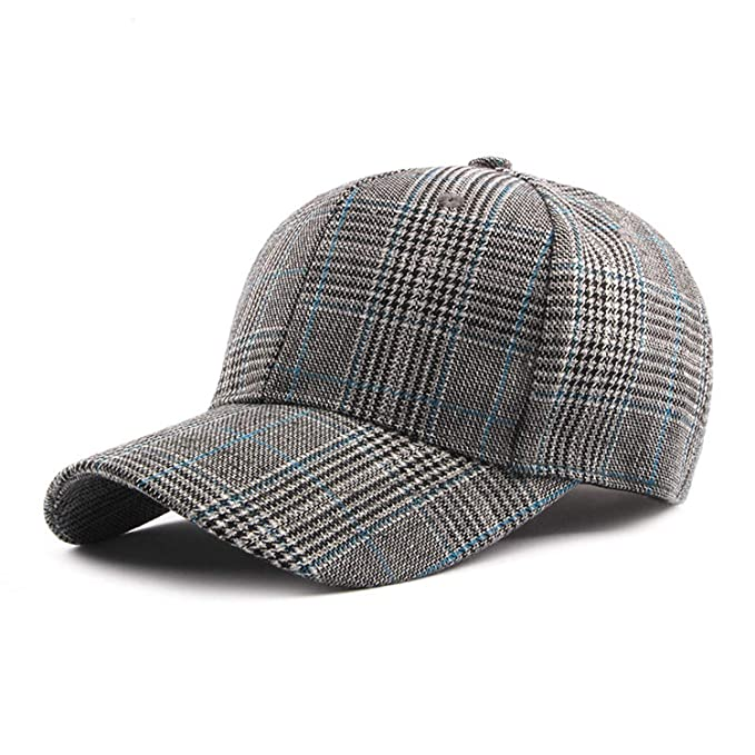 730ae106475d4 2019 New Plaid Baseball Cap Spring Summer 6 Panel Snapback Hat for Men  Women Cap