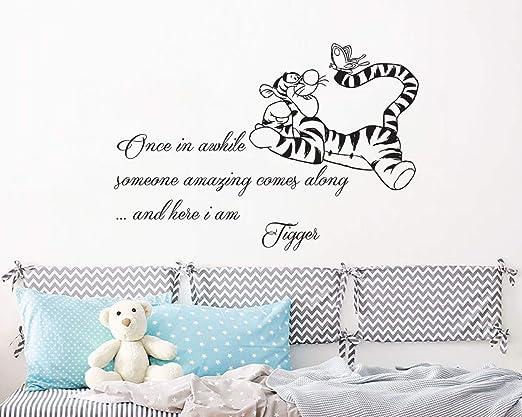 Word Wall Art Cloud Personalised Frame Tigger Print Gift