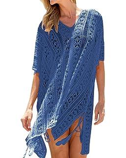 841e0184cb4e8 AUDATE Women s V Neck Beach Cover-up Plus Size Bathing Suit Cover-ups Bikini