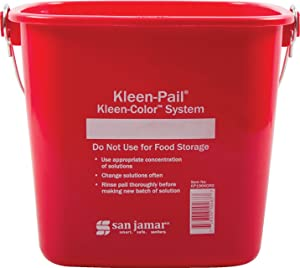 Carlisle KP196RD Kleen-Pail Commercial Cleaning Bucket, 6 Quart, Red