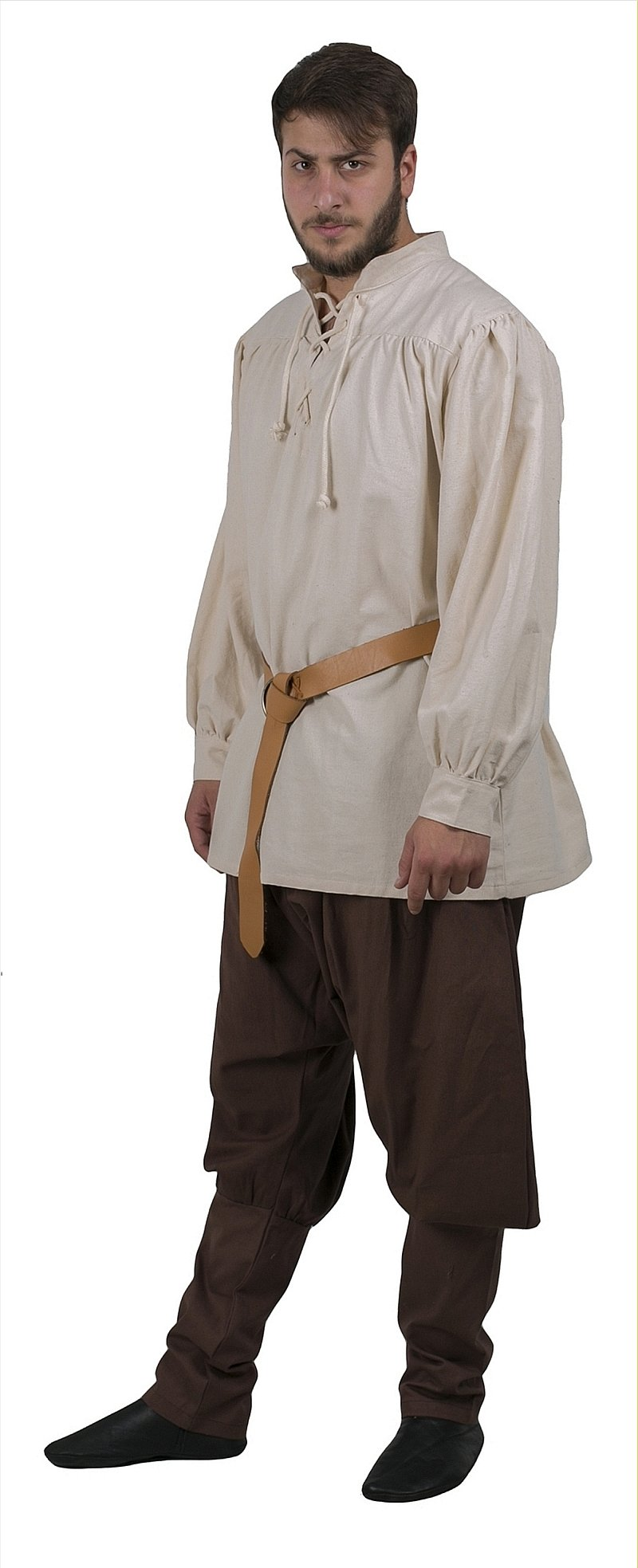 byCalvina - Calvina Costumes ERMES Medieval Viking LARP Pirate Cotton Man Shirt - Made in Turkey-Nat-2XL by byCalvina - Calvina Costumes (Image #6)