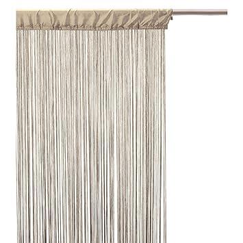 Rideau fils - 120 x 240 cm - Lin: Amazon.fr: Cuisine & Maison