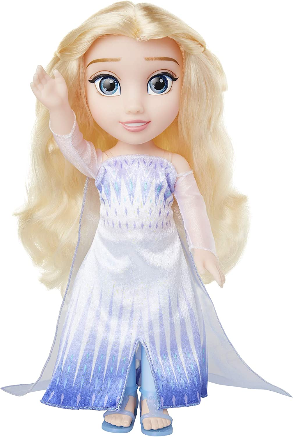 Amazon Com Disney Frozen 2 Elsa Doll Snow Queen Elsa Ionic Outfit Shoes 14 Inches Tall Toys Games