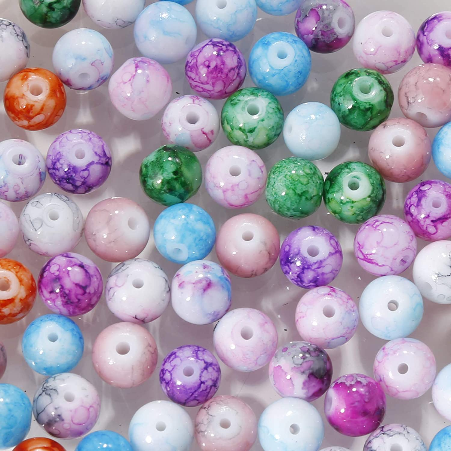 100 BULK Beads Acrylic Heart Beads Assorted Lot 8mm Beads Wholesale