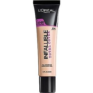 L'Oréal Paris Infallible Total Cover Foundation, Natural Buff, 1 fl. oz.