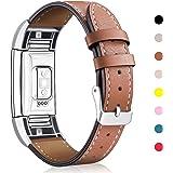 Per Mornex Fitbit Charge 2 Cinturino Pelle, Elegante Braccialetto Originate Cinturino Sport Fitbit Charge 2 per Small & Large Polsi