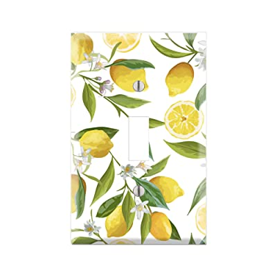 LEMONS Light Switch Cover, LEMONS Graphics Wallplate, Outlet Cover, Single Toggle, Single Rocker, Outlet Cover, Decor for Kitchen, Restaurant Gift idea for Mom, Chef, Naturalist TF126: Handmade