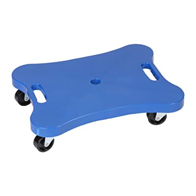 Champion Sports Plastic Scooter Board with Contoured Handles, Blue: Industrial & Scientific
