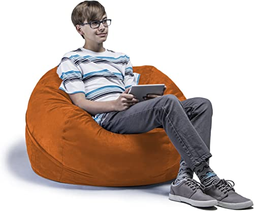Jaxx Saxx 3 Bean Bag Chair, Orange