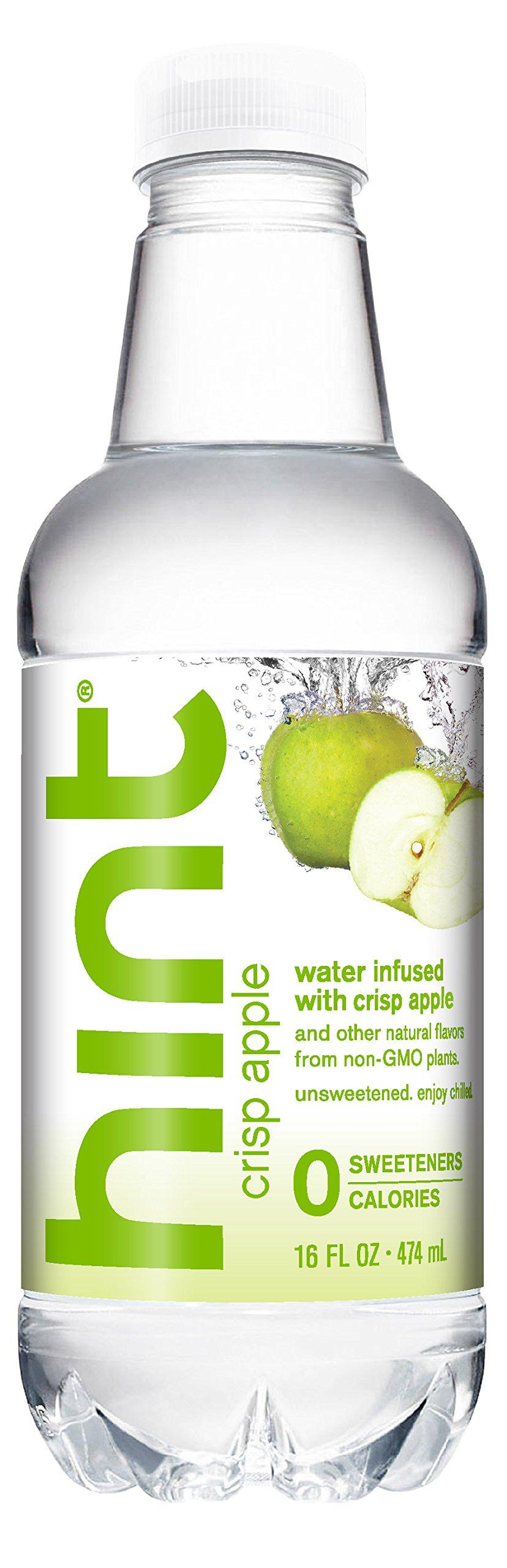 Hint Water Crisp Apple, Pure Water Infused Crisp Apple, Zero Sugar, Zero Calories, Zero Sweeteners, 16 Ounce