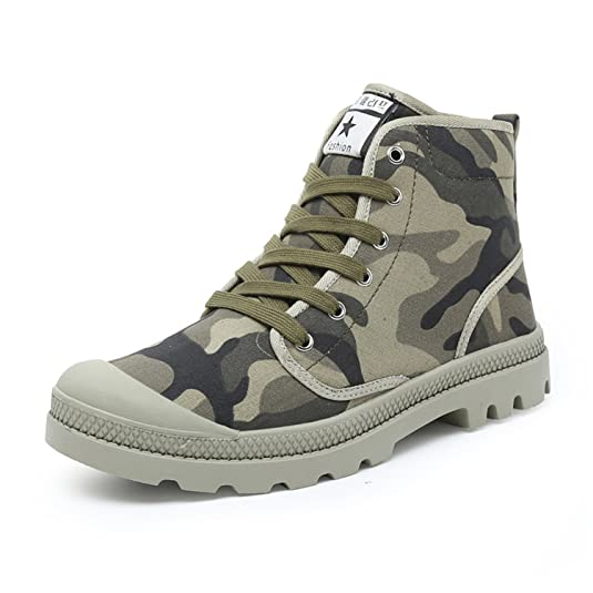 Men's Boots Fashion Canvas Shoes Flats Comfortable Casual Boots Ankle Army Green Footwear 38-47