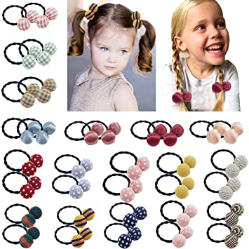 BABY GIRLS HAIR ELASTICS//PONYTAIL HAIR BOBBLES FASHION ACCESSORIES NEW KIDS