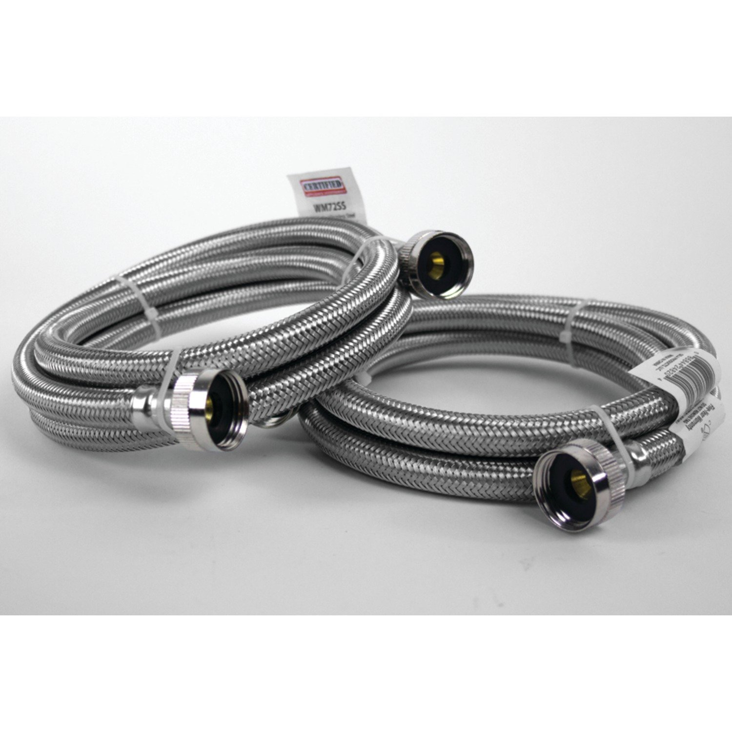 Certified Appliance Accessories Braided Stainless Steel Washing Machine Hoses, 6ft by Certified Appliance Accessories (Image #4)