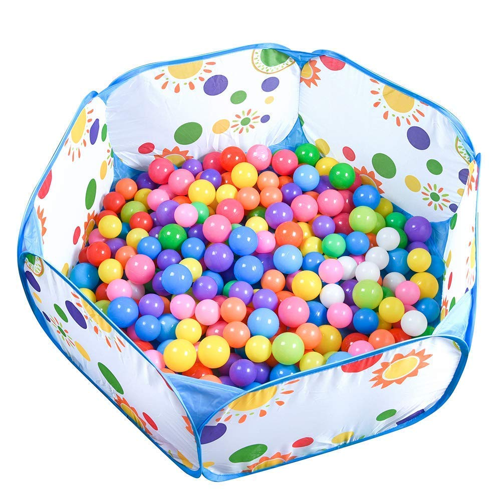 Binwwede Kids Ocean Ball 5 Colors Toddler Baby Ball Pit Pack of 100 Plastic Play Balls (20pcs) by Binwwede (Image #2)