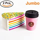 Amazon Price History for:WATINC Jumbo Squishies coffee cup&pink ice cream Slow Rising Squishies Sweet Scented Kid Toy Hand ,Stress Relief Toy LovelyToy Large(cup&pink ice cream)
