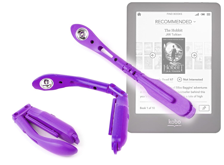 DURAGADGET Purple Pen Clip On LED Reading Light For Kobo N613-KBO-B eReader GLO Edition/Kobo Touch/Kobo Mini/Arc - K107 - KBO