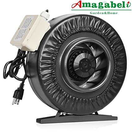 Amagabeli 6 inch Inline Duct Fan 455 CFM for Hydroponic Grow Room Tent Ventilation for Carbon  sc 1 st  Amazon.com & Amazon.com: Amagabeli 6 inch Inline Duct Fan 455 CFM for ...