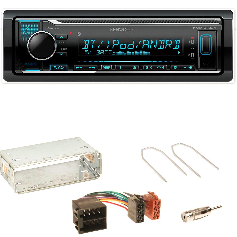 Kenwood KMM-BT304 FLAC Autoradio Bluetooth USB AUX 1-DIN AOA WMA MP3 Spotify Einbauset fü r Opel Astra F G Corsa B Zafira A ACR-Bad Hersfeld 98858