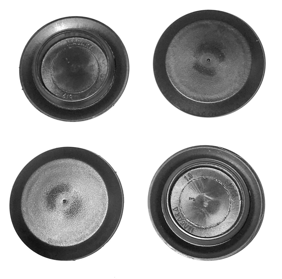 (Pack of 50) BPF- 1' - 1 Inch Flush Mount Black Plastic Body and Sheet Metal Hole Plug Caplugs