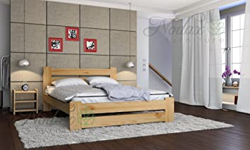 NEW Woden en pin massif Meubles de chambre Lit King Size 5 m noyer ...