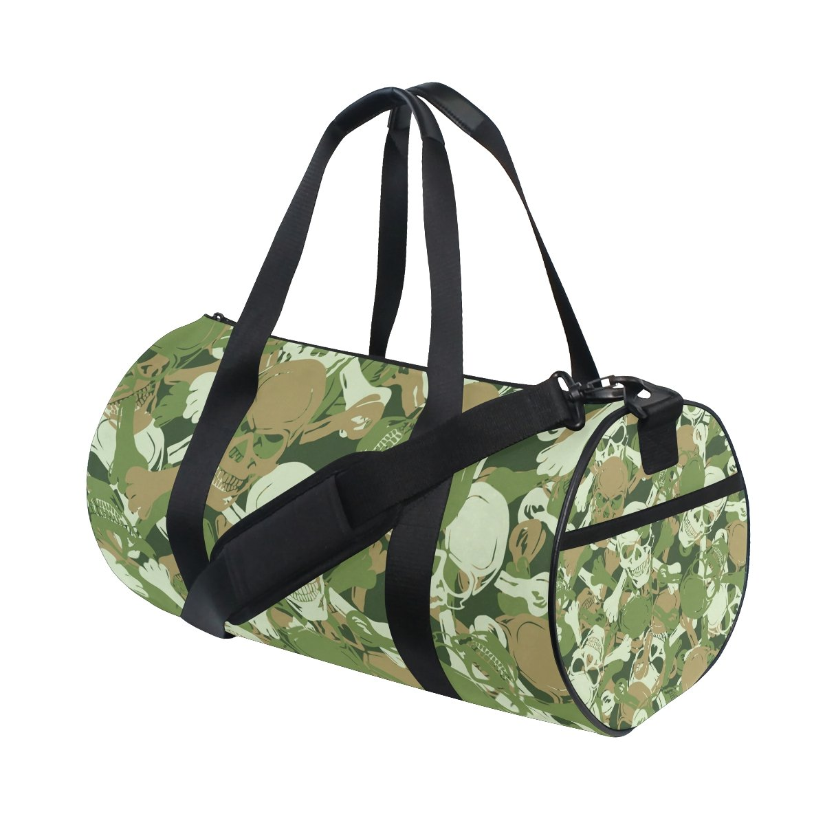 ISAOA Gym Bag Skull Camouflage Sports Duffel Bag for Women and Men Mnsruu cmb-001