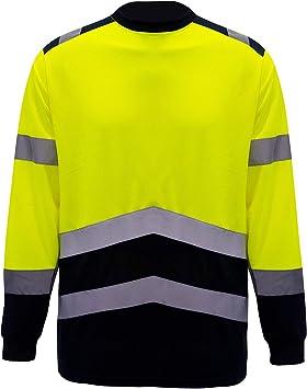Camisas de seguridad de alta visibilidad, camisa de manga larga reflectante, para hombre, camiseta de alta visibilidad, ropa de trabajo para correr: Amazon.es: Bricolaje y herramientas