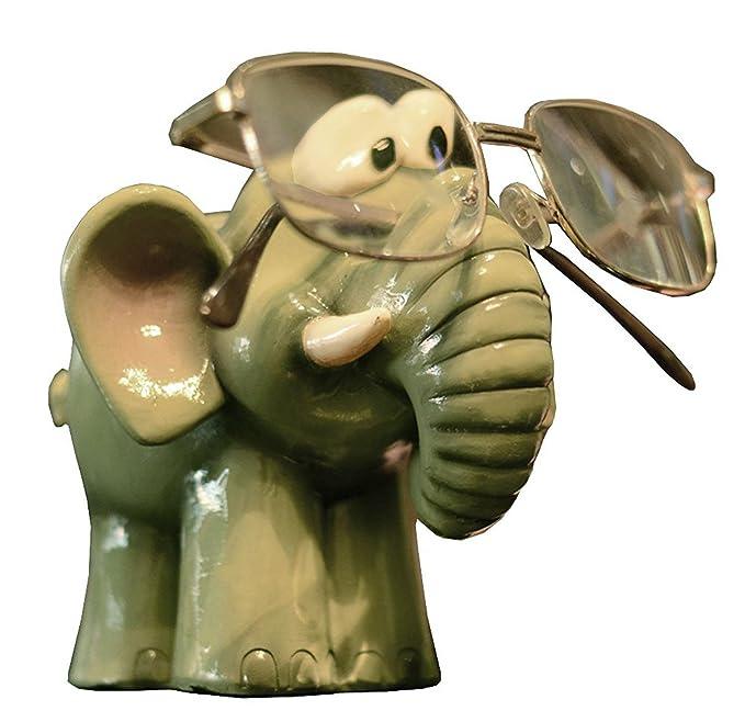 Amazon.com: Elefante Resina soporte para anteojos, Animal ...