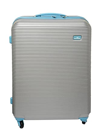 ac44e44fb44c Princeware Polycarbonate 58.425 Cm Silver Hard Sided Suitcases   Trolley  Bags  Amazon.in  Bags