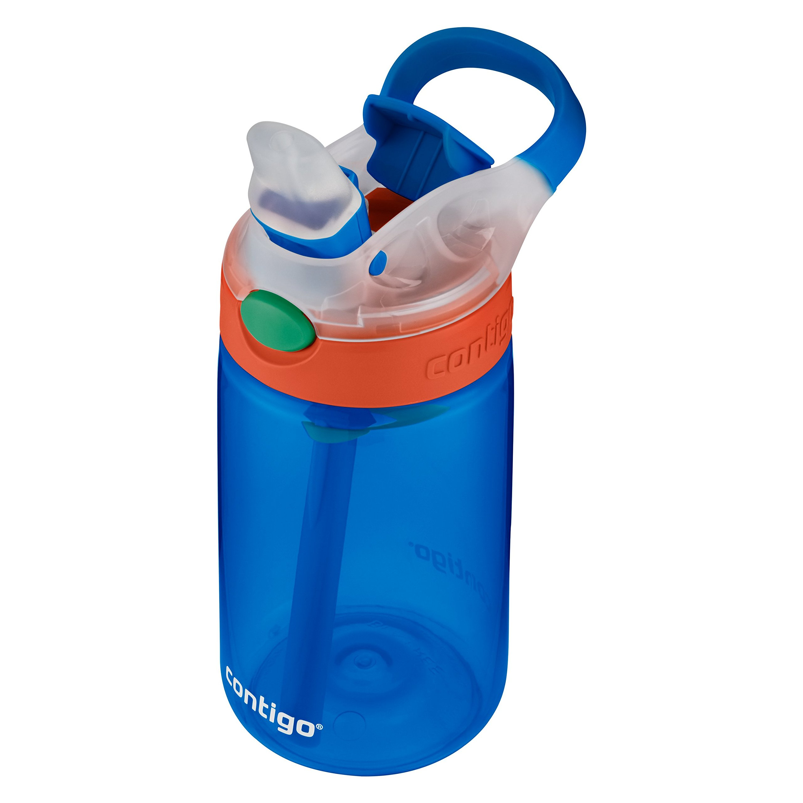 Contigo Kids Gizmo Flip Water Bottles, 14oz, French Blue/Coral, 2-Pack by Contigo (Image #2)