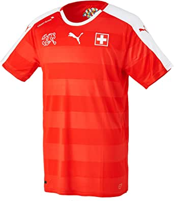 PUMA Switzerland Euro Home Football Shirt 2016-17-Small Adults